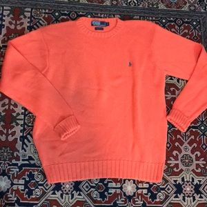100% cotton crewneck sweater in a fall orange
